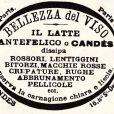 Prodotti cosmetici nei primi anni del 900